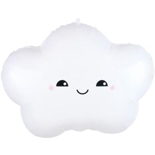 """Фольгированный шар """"Счастливое облако"""" белый"""