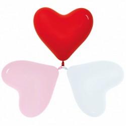 Гелиевый шар Сердце Красный/Белый/Розовый