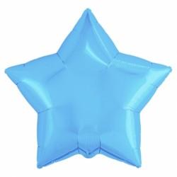 """Фольгированный шар звезда """"Металлик"""" холодно-голубой"""