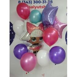 """Набор гелиевых шариков """"С Днем Рождения! Лола"""""""