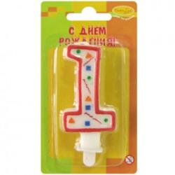 Свеча для торта Цифра 1