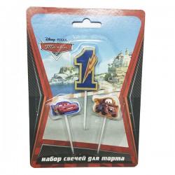 Свечи для торта (цифра 1) Дисней Тачки