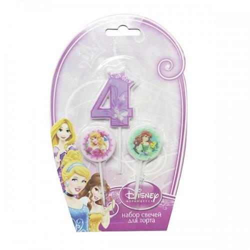 Свечи для торта (цифра 4) Дисней Принцессы