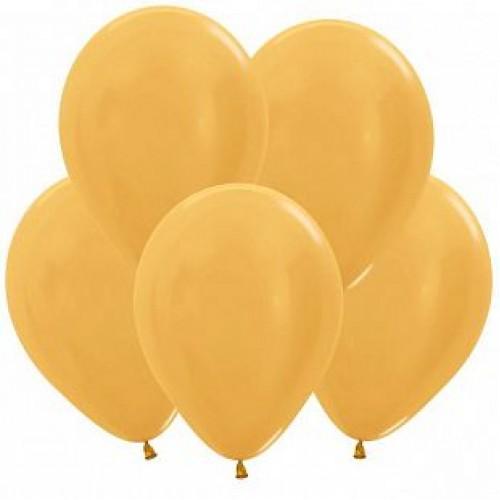 Гелиевый шар Метал Золото