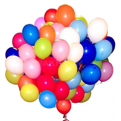 Набор гелиевых шаров 50 штук (30 см)