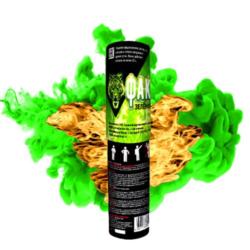Факел огневой с чекой (зеленый)