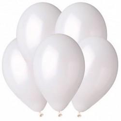 Гелиевый шар Металл Белый