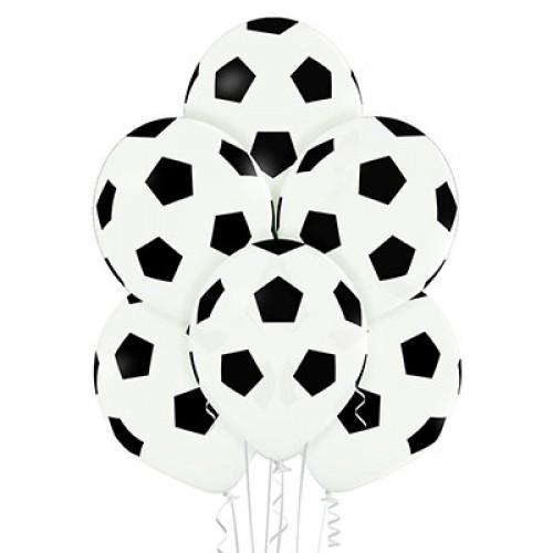 "Гелиевый шар ""Мяч футбол"" Белый"