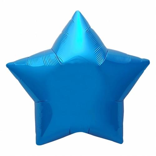 Фольгированный шар Звезда Синий