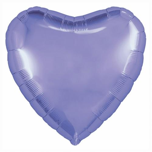 Фольгированный шар Сердце, фиолетовый