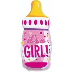 """Фольгированный шар на выписку """"Бутылочка для девочки"""""""