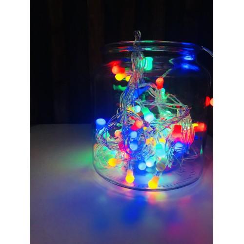"""Гирлянда """"Маленькая жемчужина"""" 100 ламп, цветная"""