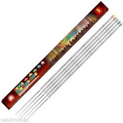 """Свеча бенгальская 300 мм (5 шт) """"Северное сияние"""" красн/желт/зелен/голуб/бел."""